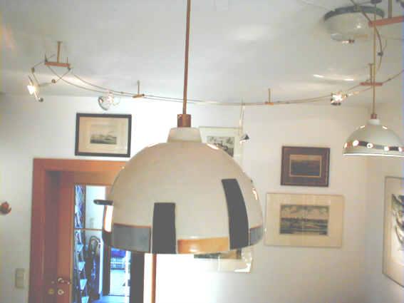 handgearbeitete Porzellan-Lampen und Beleuchtung nach Kundenwünschen aller Art (  Wandlampen, Stehlampen, Hängelampen ... Halogen ) Halogen Hängeleuchten 12 Volt, LAMPEN_LEUCHTEN: Hängeleuchte